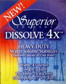 Superior Dissolve 4X Water Soluble Stabilizer Film