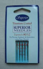 Superior Titanium Sewing Needles